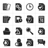 Icônes d'organisateur, de communication et de connexion de silhouette illustration stock