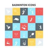 Icônes de badminton Illustration de Vecteur