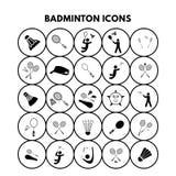 Icônes de badminton Illustration Libre de Droits