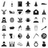 Icônes de bible réglées, style simple Photo libre de droits