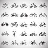 Icônes de bicyclette réglées sur le fond blanc pour le graphique et la conception web, signe simple moderne de vecteur Internet b illustration de vecteur