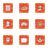Icônes de bienveillance réglées, style grunge illustration libre de droits