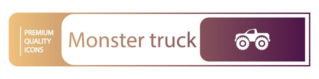 icônes de camion de monstre de fond illustration stock