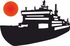 Icônes de cargo, logo pour le concept mobile et apps de Web illustration stock