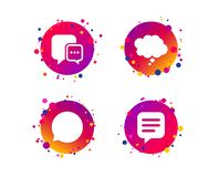 Icônes de causerie Signes comiques de bulle de la parole pensez Vecteur illustration libre de droits
