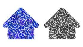 Icônes de Chambre de collage de manières de courrier illustration libre de droits