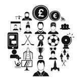 Icônes de chef réglées, style simple Illustration Libre de Droits
