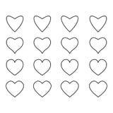 Icônes de coeur, concept de l'amour illustration de vecteur