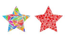 Icônes de collage de Red Star de triangle illustration libre de droits