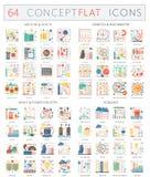 Icônes de concept d'Infographics de santé de médecine, de biochimie de la génétique, d'industrie énergétique lourde et d'écologie illustration stock