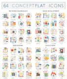 Icônes de concept d'Infographics de technologie de réseau, développement de seo, web design, données de nuage Vecteur de la meill Photos stock