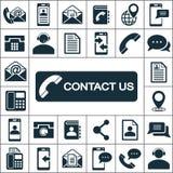 Icônes de contactez-nous réglées illustration de vecteur