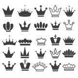 25 icônes de couronne de vecteur ont placé, l'illustration courante de vecteur illustration libre de droits