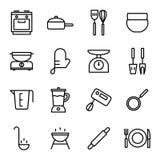 Icônes de cuisson et de cuisine Photo stock