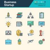 Icônes de démarrage d'entreprise Collection remplie 31 de conception d'ensemble pour Images libres de droits