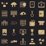 Icônes de dépense réglées, style simple illustration de vecteur