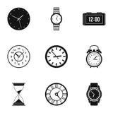 Icônes de dimension de temps réglées, style simple illustration libre de droits