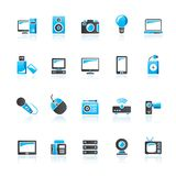 Icônes de dispositifs de technologie et de multimédia illustration libre de droits