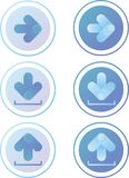 Icônes de flèche Photos libres de droits