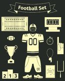 Icônes de football américain réglées Images libres de droits