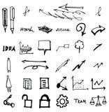 Icônes de griffonnage de vecteur Ensemble universel eps10 Images libres de droits