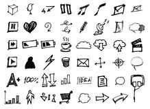 Icônes de griffonnage de vecteur Ensemble universel eps10 Image libre de droits