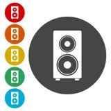 Icônes de haut-parleur réglées illustration stock