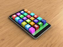 icônes de l'application 3d Photo stock