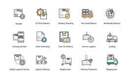 Icônes de la livraison de logistique illustration libre de droits