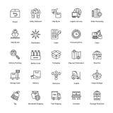 Icônes de la livraison de logistique Images stock