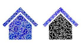 Icônes de la mosaïque House1 du trafic de courrier illustration libre de droits