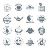 Icônes de logo d'Apple réglées, style simple Images stock