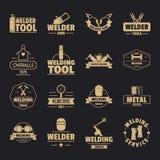 Icônes de logo de soudure réglées, style simple illustration de vecteur