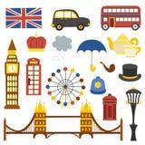 Icônes de Londres de vecteur Images stock