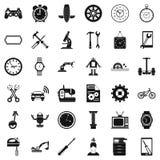 Icônes de mécanicien réglées, style simple Photographie stock libre de droits