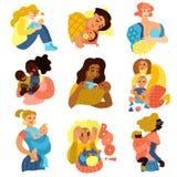 Icônes de maternité réglées Photo stock