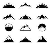 Icônes de montagnes de vecteur Image libre de droits