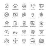 Icônes de moteur de recherche et d'optimisation illustration de vecteur