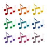 Icônes de notes de musique réglées illustration libre de droits