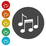 Icônes de notes de musique réglées illustration de vecteur