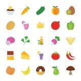 Icônes de nourriture et de cadeaux illustration de vecteur