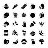 Icônes de nourriture et de cadeaux illustration stock