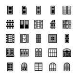 Icônes de nuances de fenêtre illustration stock