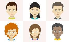 Icônes de personnes, avatars Photos libres de droits