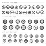 Icônes de pièces de voiture réglées illustration de vecteur