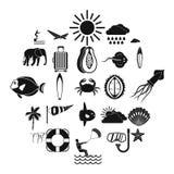 Icônes de piqué réglées, style simple illustration de vecteur