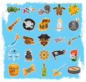 Icônes de pirate photo stock