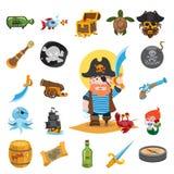 Icônes de pirate Photographie stock