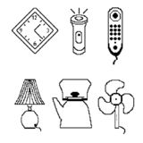 Icônes de pixel illustration stock