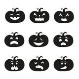 Icônes de potiron de Halloween illustration de vecteur